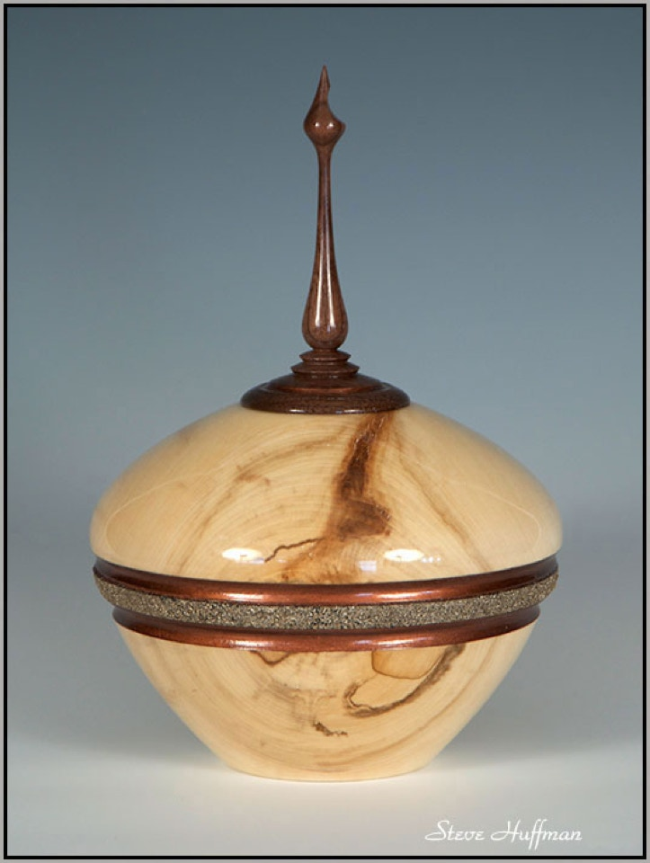 Aspen Wood Pet Cat Dog Cremation Urn  Woodturning For Sale