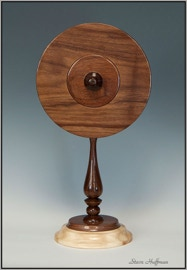 Walnut Aspen Wooded Clock  Woodturned Woodturning
