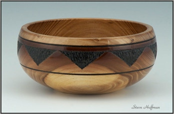 Siberian Elm Wood Bowl Southwest Design Woodturning Wood