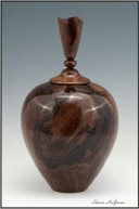 Walnut Woodturning Hollow Form Art Show Lacquer Finish