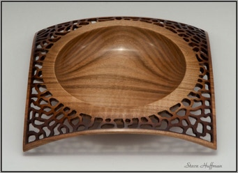 Square Maple Wood Bowl Woodturning For Sale