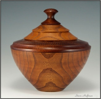 Mulberry Wood with Padauk Lidded Wooden Bowl Woodturning