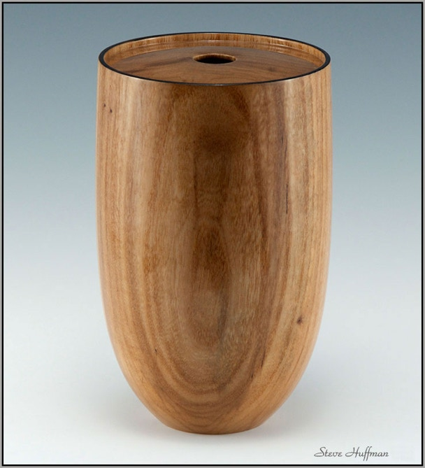 Siberian Elm Woodturning Hollow Form Art Show Lacquer Finish