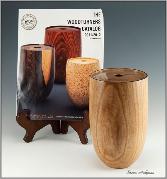 Elm Woodturned Hollow Form Artistic Show Lacquer Finish