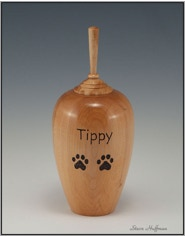 Maple Wood Cat Dog Pet Cremation Urn Woodturning