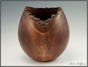 Cherry Decorative Wood Vase Hollow Form Woodturning