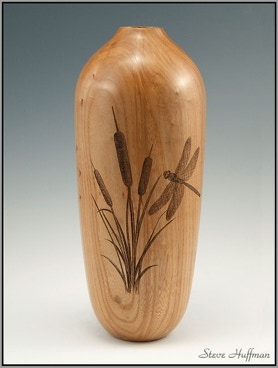 Siberian Elm Wood Vase Hollow Form Woodturning