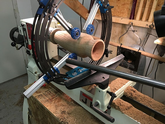 steady rest woodturning